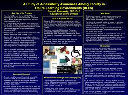A Study of Accessibility Awareness Among Faculty in Online Learning Environments  oles  NSU College of Engineering and Computing   Nova Southeastern