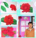 3. ตัดกระดาษเป็นดอกไม้ติดบอร์ด ตอนที่ 1 ดอกกุหลาบ - GotoKnow