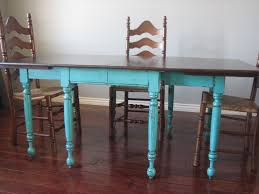 european paint finishes teal dining table u0026 ladderback chairs