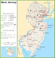 New York Map Us by New Jersey Highway Map