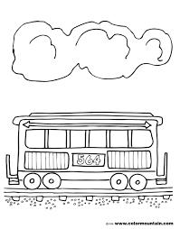 train car coloring sheet create a printout or activity