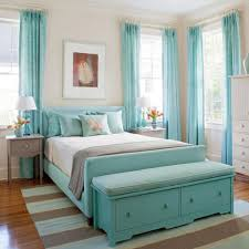 blue curtains girls bedrooms color blue with blue bed on the