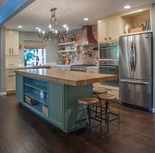 Kitchen Butchers Blocks Islands Butcher Block Island Kitchen Traditional With Exposed Brick Rustic