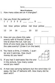 Two Way Tables Worksheet Second Grade Math Word Problem Work Sheets