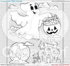 black and white halloween backgrounds lineart clipart of a cartoon black and white happy halloween ghost