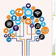 Plan Social Media by Social Media Networks Business Tree Plan Stock Photos Image