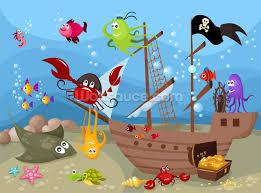 boys wallpaper bedroom wall murals wallsauce sunken pirate ship mural wallpaper