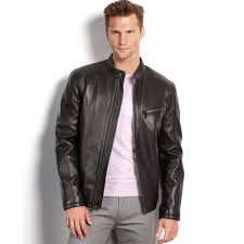 men s moto jacket marc new york sutton smooth lamb leather moto jacket in black for
