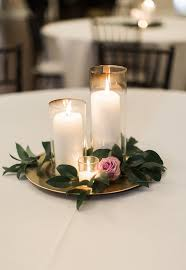 Purple Floating Candles For Centerpieces by Candle Wedding Centerpiece Purple And Greenery Centerpiece Simple
