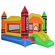 halloween bounce house amazon com cloud 9 mini crayon bounce house inflatable bouncing