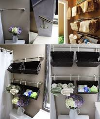 diy bathroom towel storage creative ideas decorating your small