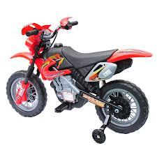motocross dirt bikes aosom aosom 6v kids ride on electric motocross dirt bike red