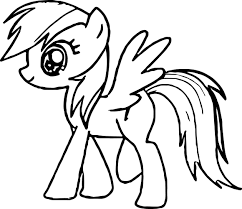 My Little Pony Colouring Pages Walking My Little Pony Coloring Page Wecoloringpage