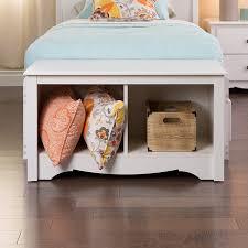 amazon com prepac monterey white twin cubbie bench small