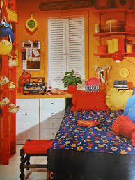 bedroom interior cute colorful cover bedding over single bed and