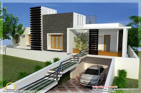 floor plan and elevation of pleasing new contemporary home designs