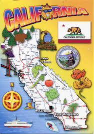 Map Of The Usa by Detailed Tourist Map Of California State California State Usa