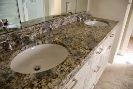 White Bathroom Vanity With Granite Top by Terra Grey Blue Flower Granite Bathroom Vanity With White