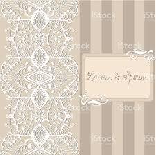 Invitation Card Designer Abstract Background Lacy Frame Border Pattern Wedding Invitation