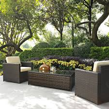 Wicker Resin Patio Furniture - amazon com crosley furniture palm harbor 3 piece outdoor wicker