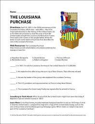 Education World  The Louisiana Purchase Internet Scavenger Hunt C  Wk