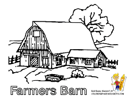 free printable barn templates for farm house coloring pages eson me