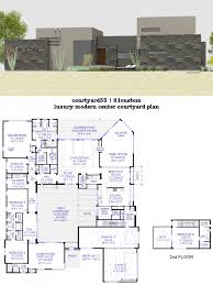 L Shaped Towhnome Courtyards House Plan With Courtyards Impressive Courtyard Plans 61custom
