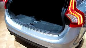 volvo v60 boot checking the size of the trunk paris motorshow