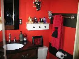 shining inspiration red and black bathroom decor home designing