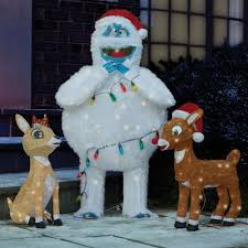 Christmas Yard Decoration Images The Rudolph Clarice And Bumble Lawn Sculptures This Is The