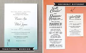wedding invitation wording and etiquette