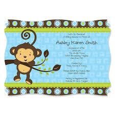 printable baby shower invitations for boys monkey boy baby shower theme bigdotofhappinesscom baby shower