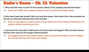 ender u0027s game ch 13 study guide notes youtube