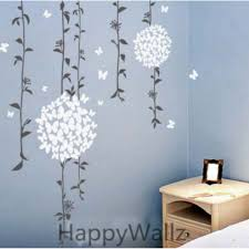 wall decals australia wall art stickers tree nursery baby room floral vines and butterflies ball flowers