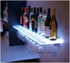 Ikea Glass Shelves by Floating Glass Shelf Ikea Led Floating Shelves W Wine Thick Glass