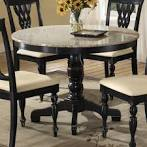 Embassy Round Pedestal Table with Granite Top - Hillsdale [HD-4808 ...