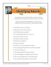 Identifying Adverbs   Free  Printable Adverb Worksheets K  Reader