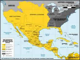 Spain Political Map by Viceroyalty Of New Spain Map 1810 Conquest Of Mexico Pinterest