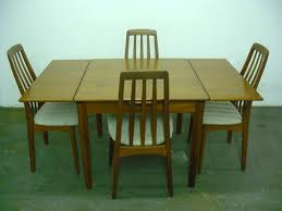 Teak Dining Room Table And Chairs by Four 4 Danish Teak Dining Chairs By Benny Linden