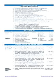Sample Resume Of Office Administrator by Cv Resume Sample For Fresh Graduate Of Office Administration