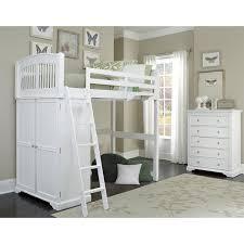 ne kids walnut street locker loft bed white hayneedle
