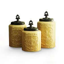 amazon com american atelier canisters cream antique set of 3