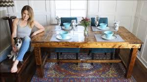 how to build a rustic farmhouse kitchen table for only 50