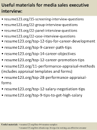 Best Executive Resume Format by Top 8 Media Sales Executive Resume Samples