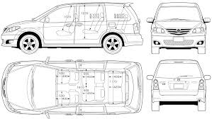 car blueprints чертежи автомобилей mazda