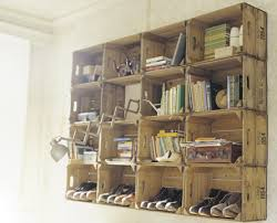 Wooden Crate Bookshelf Diy by Shipping Crates Reused Crates Crate Shelves And Wooden Crates
