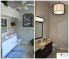 bathroom transformation in dark chocolate milk paint general