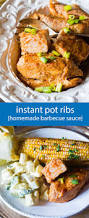 instant pot ribs homemade barbecue sauce pressure cooker recipe