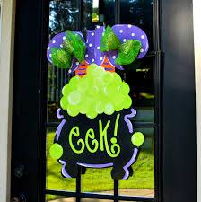 halloween witch wreath halloween door hanger halloween
