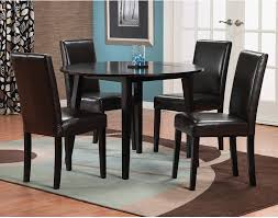 Dakota Piece Round Table Dining Package With Brown Chairs The - Kitchen table sets canada